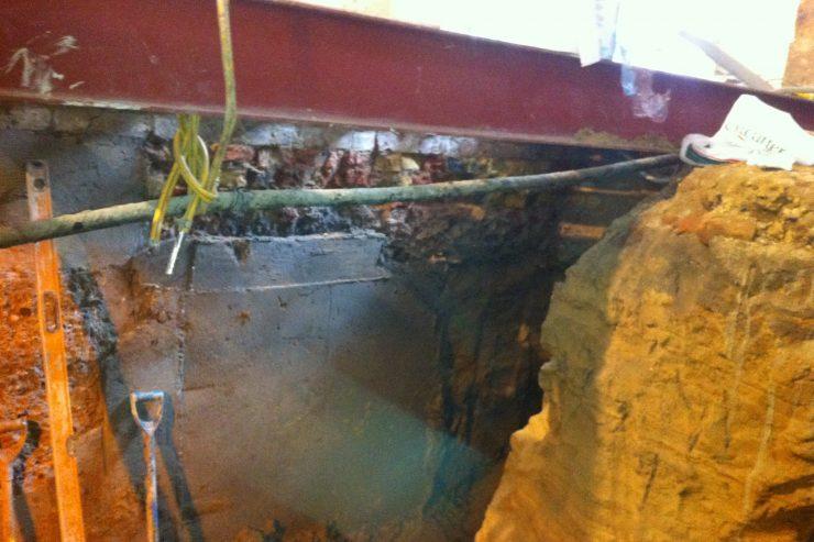 underpinning-basement-London-underpinning-contractors-London