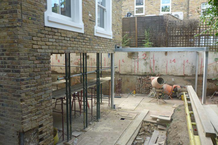 underpinning-basement-London-mass-concrete-underpinning-London